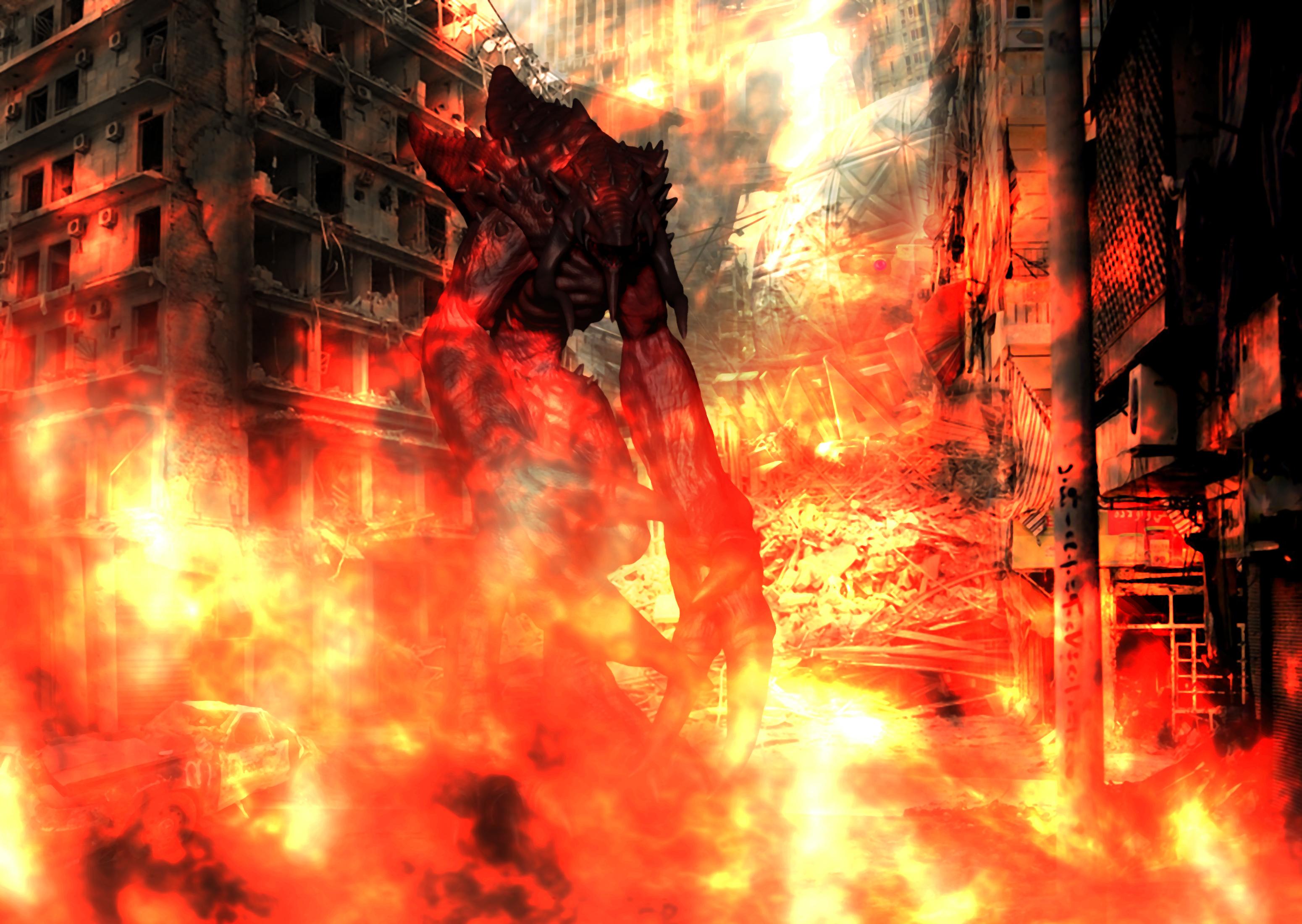 Dark Girl Wallpaper City In Flames The Rager Image Dark Force Science