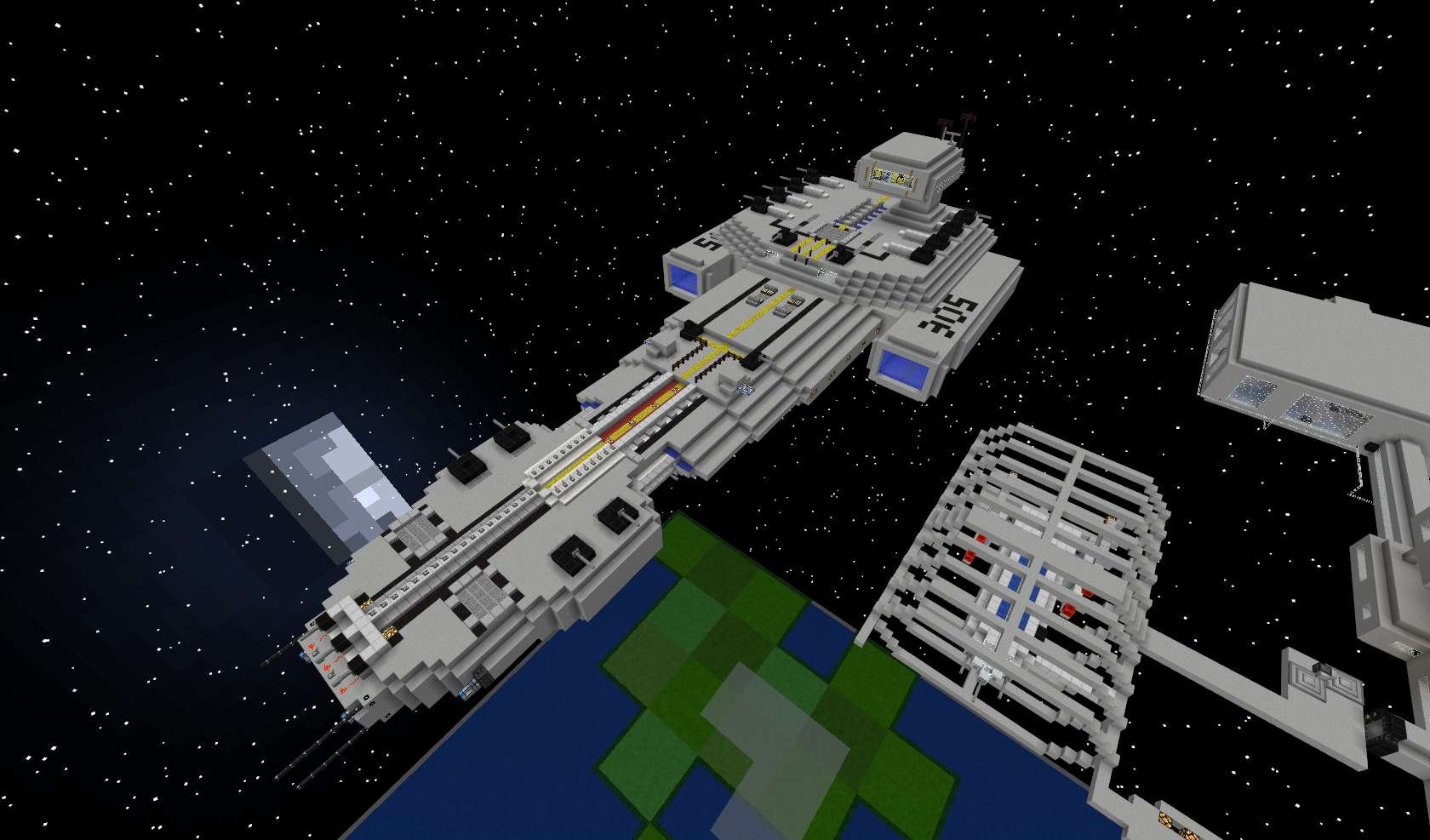 minecraft space ship image