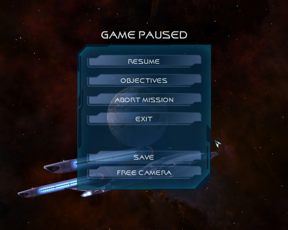 Pause menu screen in star trek legacy game Menus Pinterest - free online resumes