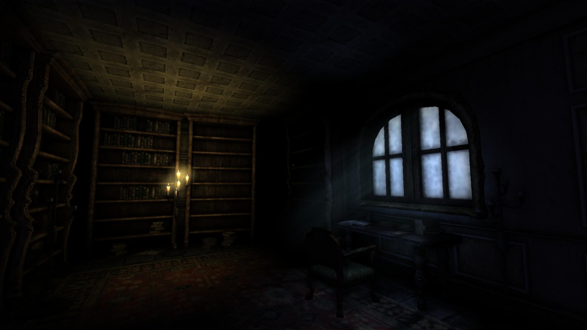 Amnesia Anime Wallpaper Dimly Lit Study Image Black Forest Castle V2 Mod For