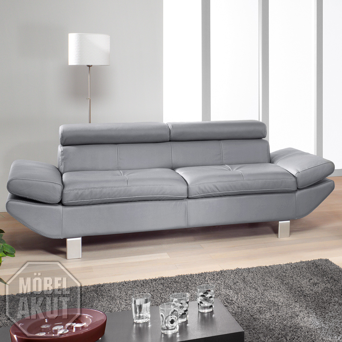 Big Sofa Mit Relaxfunktion 3er Sofa Carrier PolstermÖbel Mit Relaxfunktion In Grau