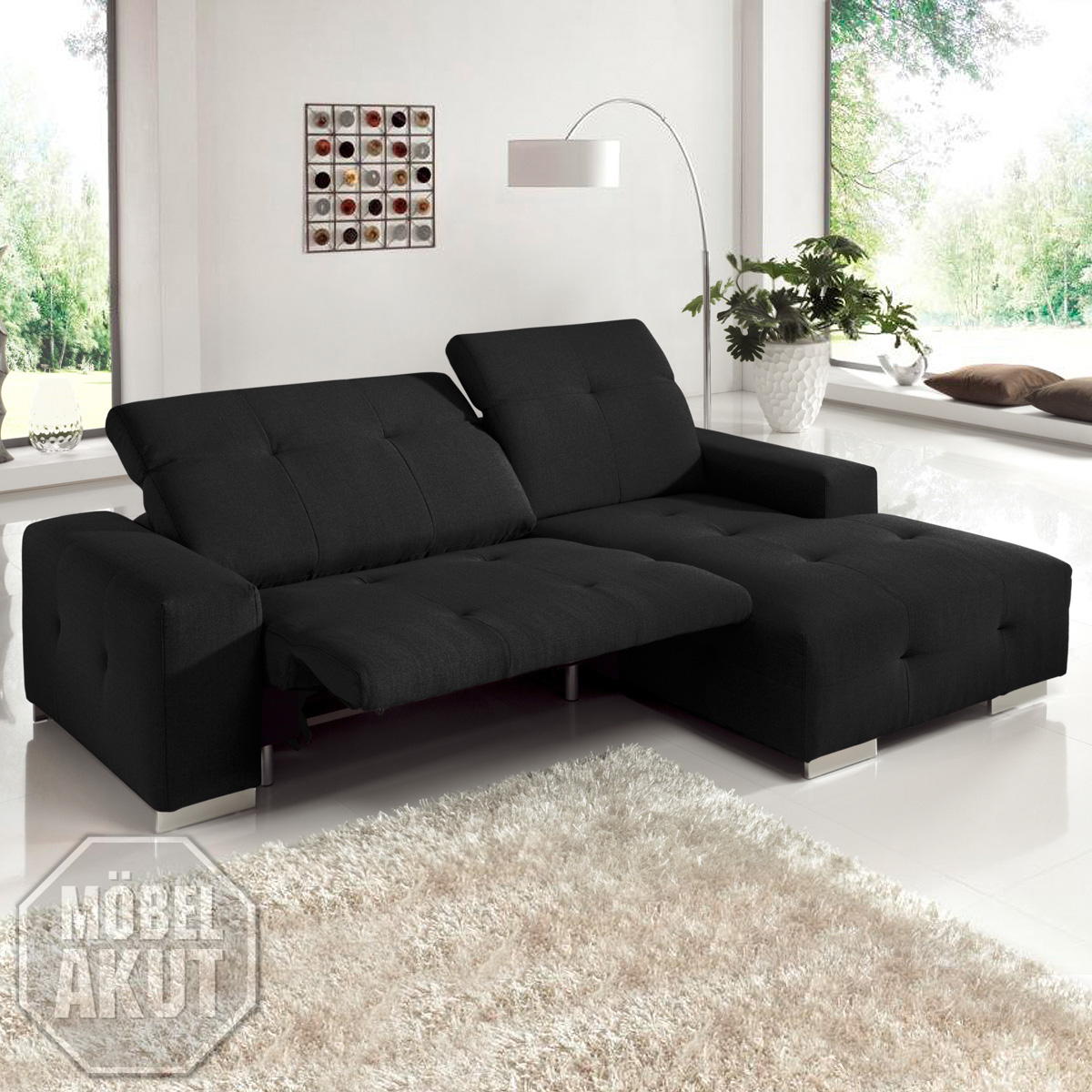 Big Sofa Mit Relaxfunktion Ecksofa Francisco Sofa Lila Mit Elektrischer Relaxfunktion