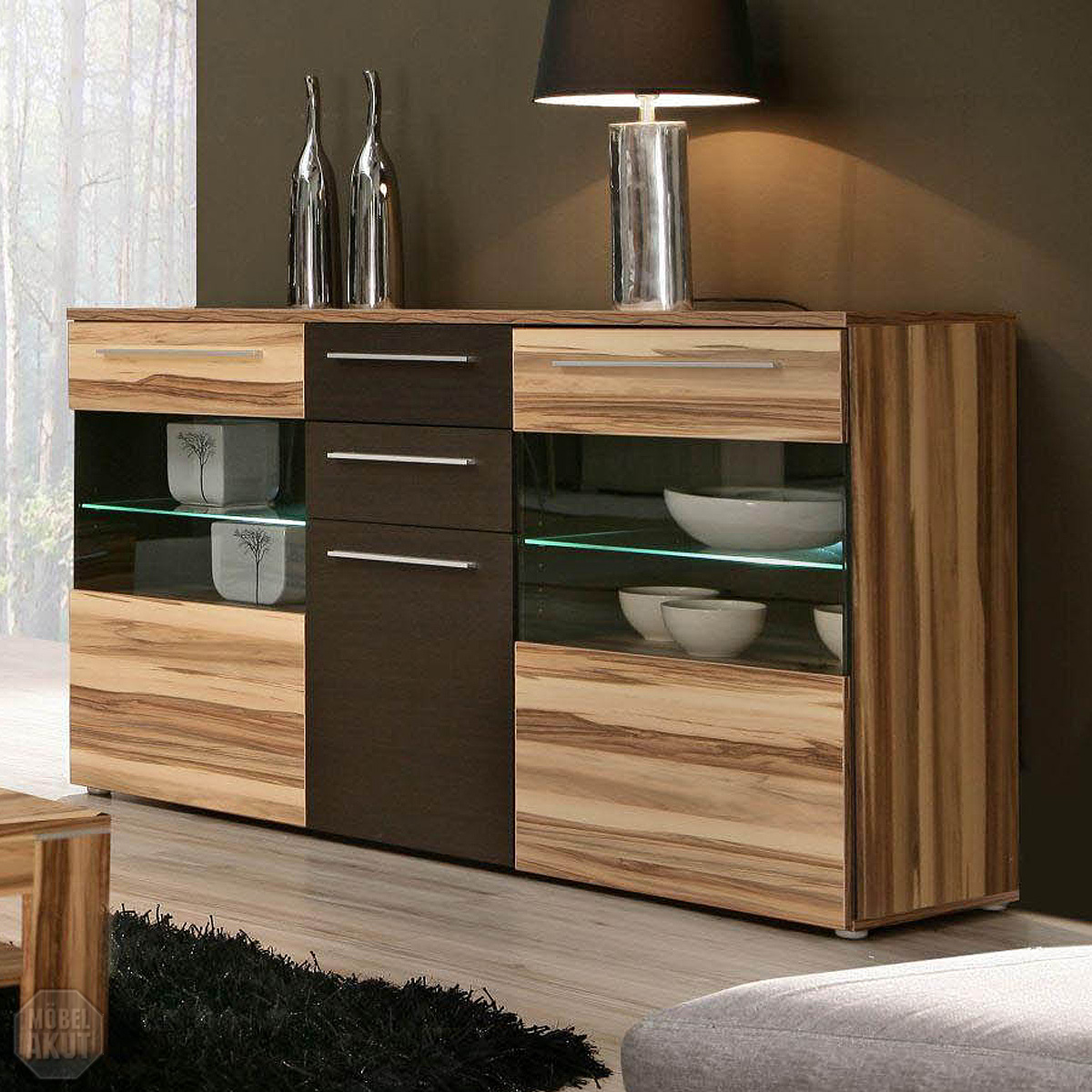Baltimore Walnuss Kommode Sideboard Fondo Kommode Anrichte In Baltimore Walnuss