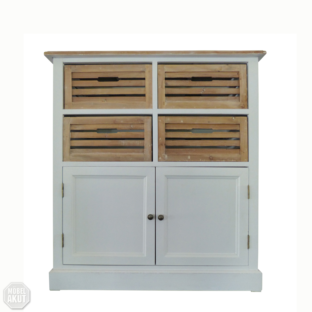 Küche Highboard Landhaus Highboard 1 Paris Kommode In Paulownia Holz Weiss Vintage