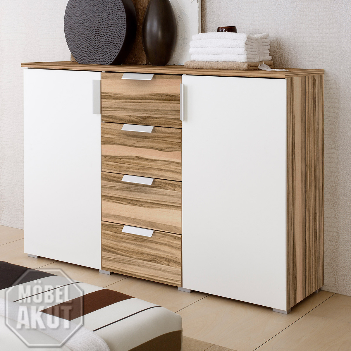 Baltimore Walnuss Kommode Kommode Eco Sideboard Weiß Baltimore Walnuss Neu