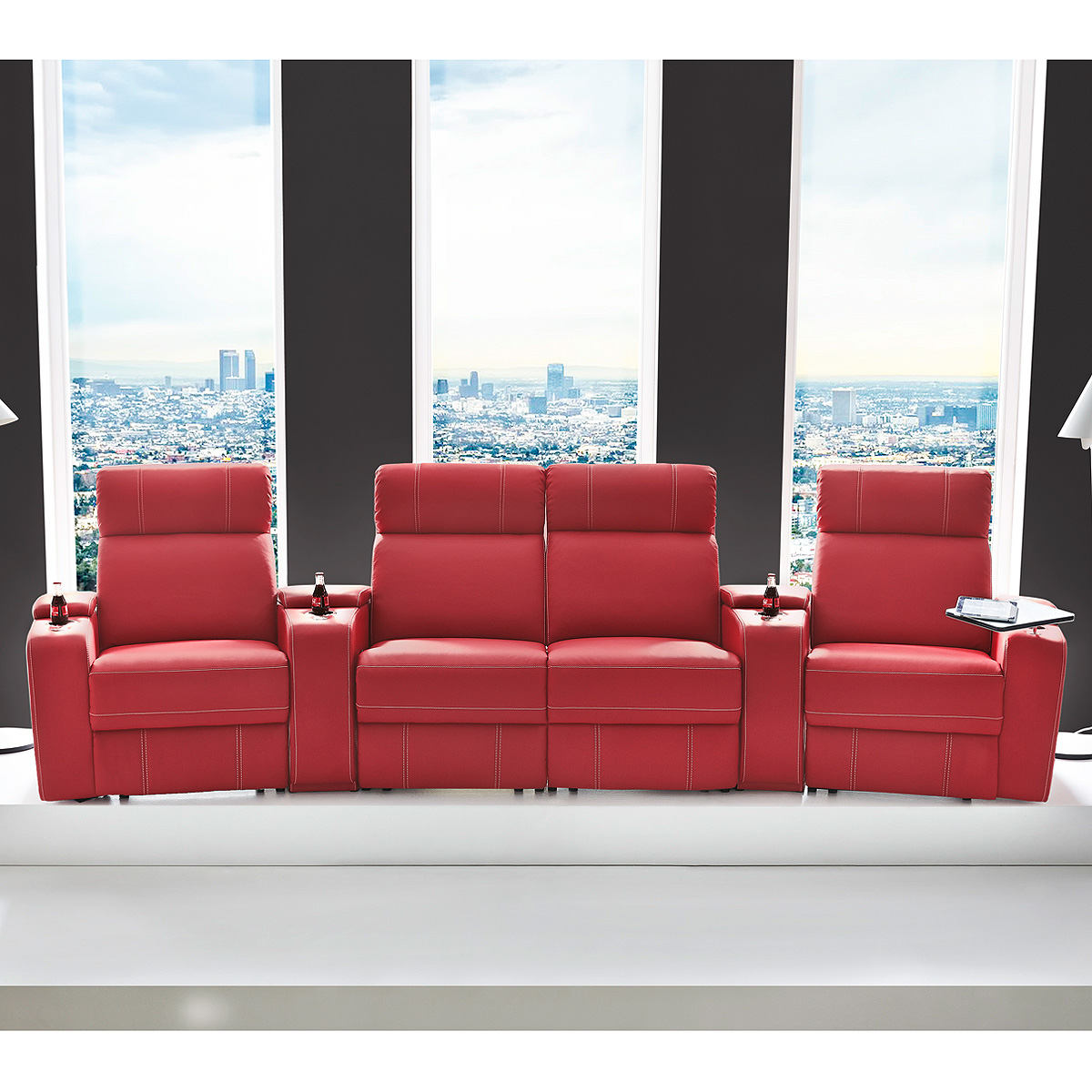 4er Cinema Sessel Cinema Sessel Hollywood 4er Kinosessel Kinosofa Sofa
