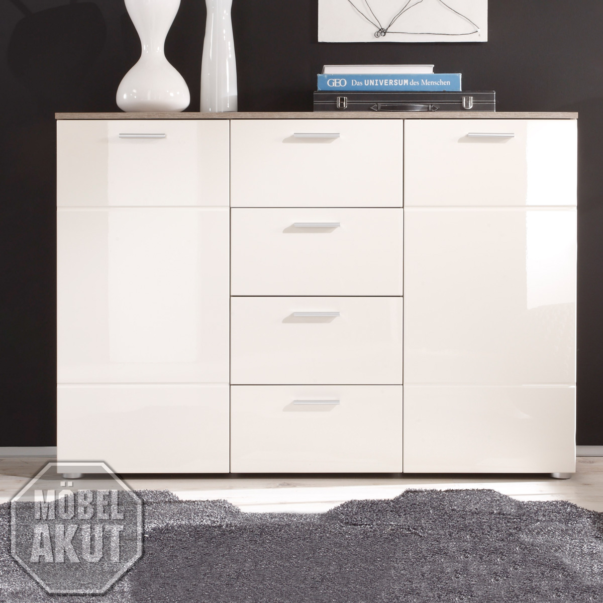 Schlafzimmer Kommode Magnolia Kommode 4 Shadow Sideboard Eiche TrÜffel And Magnolie Creme