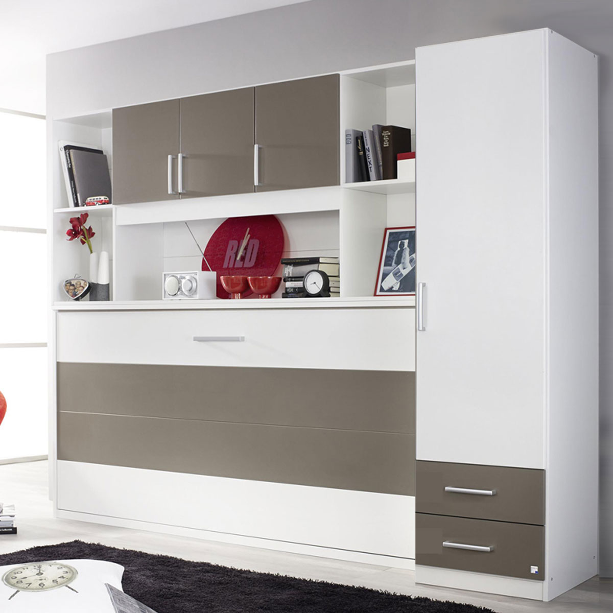 Kinderzimmer Regal Schrankbett Set Albero Kleiderschrank Regal 90x200cm 4