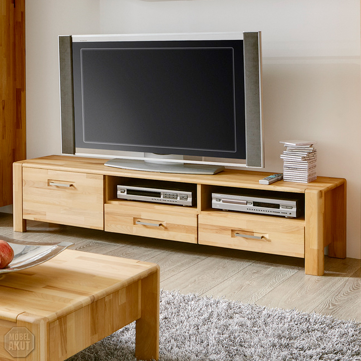 Hifi Schrank Buche Massiv Tv Board Milla Lowboard Tv Regal Hifi In Kern Buche Massiv