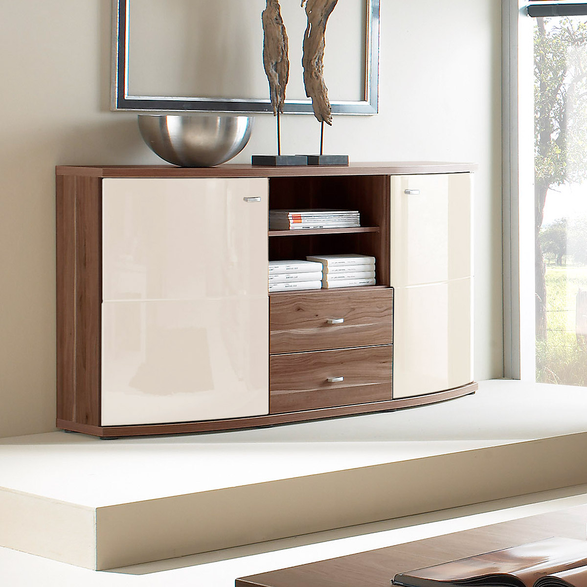 Baltimore Walnuss Kommode Sideboard Creme Nussbaum Fehler Sideboard Kentucky Kommode