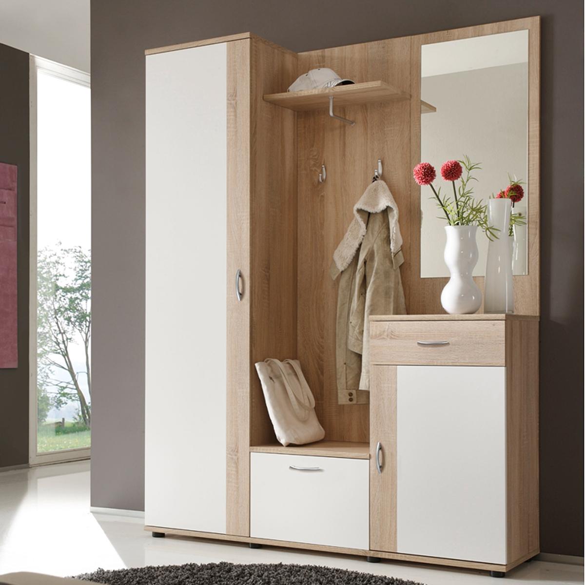 garderobe patent dielenmobel flurmobel spiegel in sonoma