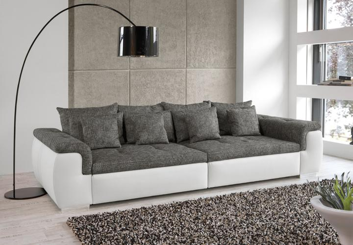 Big Sofa Weiss Big Sofa Big Point Sofa Weiss Webstoff Anthrazit | Ebay