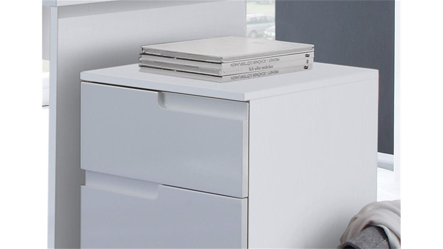 Benz Sessel Rollcontainer Spice In Mdf Weiß Hochglanz