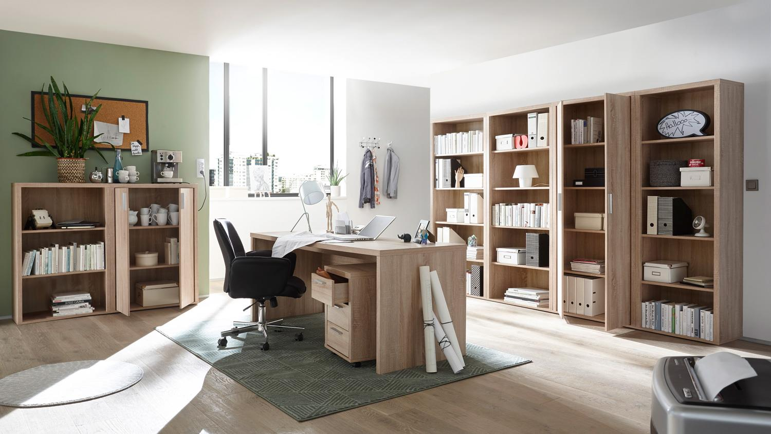 Büromöbel Eiche Büroset 8 Teilig Fact Büromöbel Home Office Regal Schrank Sonoma Eiche