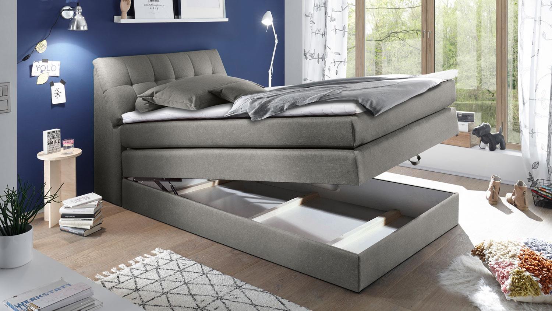 Bett Grau 180x200 Designer Boxspringbett Bett Doppelbett Ehebett