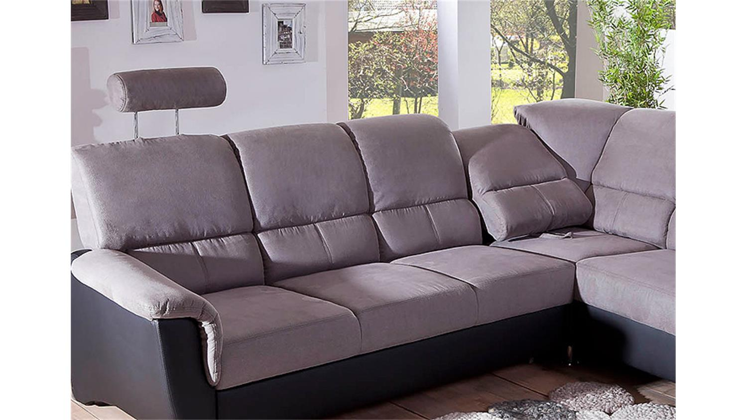 Garnitur Torgau Couch Grau Schwarz Finest Medium Size Of Eckcouch Mit