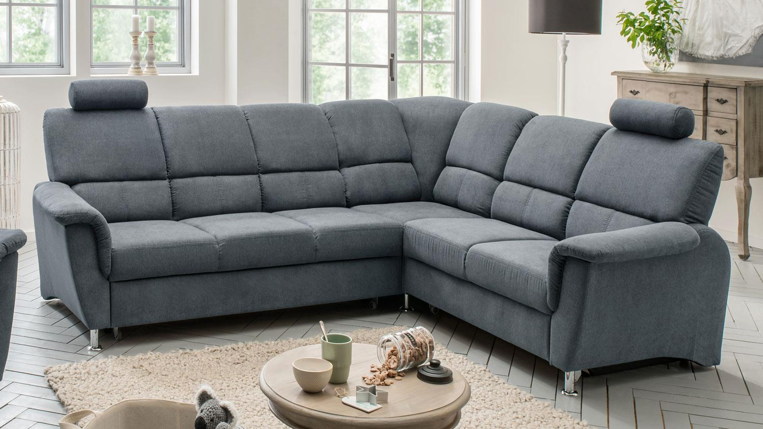 Ecksofa Mit Bettfunktion Ecksofa Pisa Eckgarnitur L-sofa Anthrazit Mit Bettfunktion