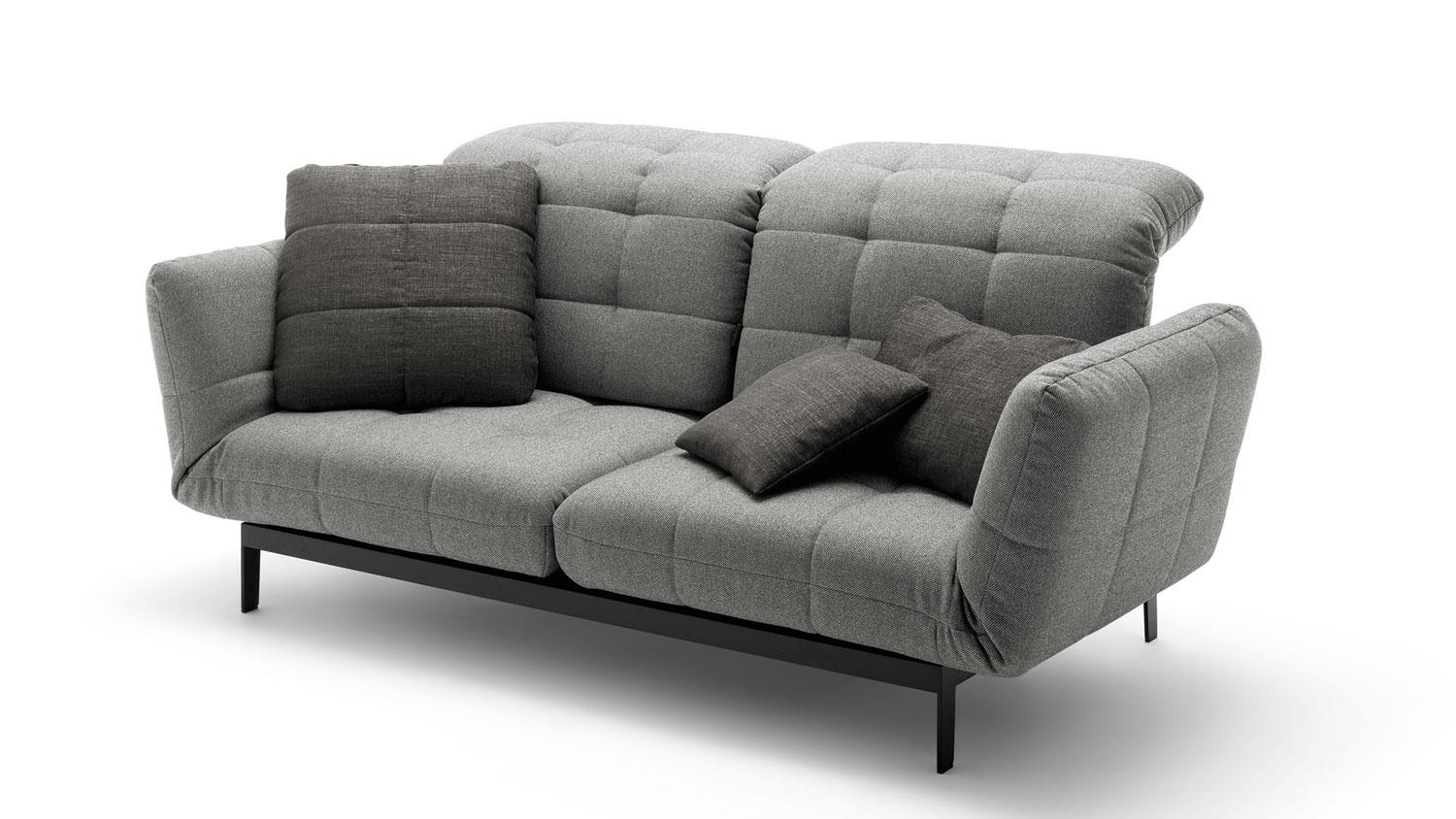 Ledercouch Mit Relaxfunktion Rolf Benz Sofa Agio 342 Komfort Relaxfunktion Stoff Silbergrau