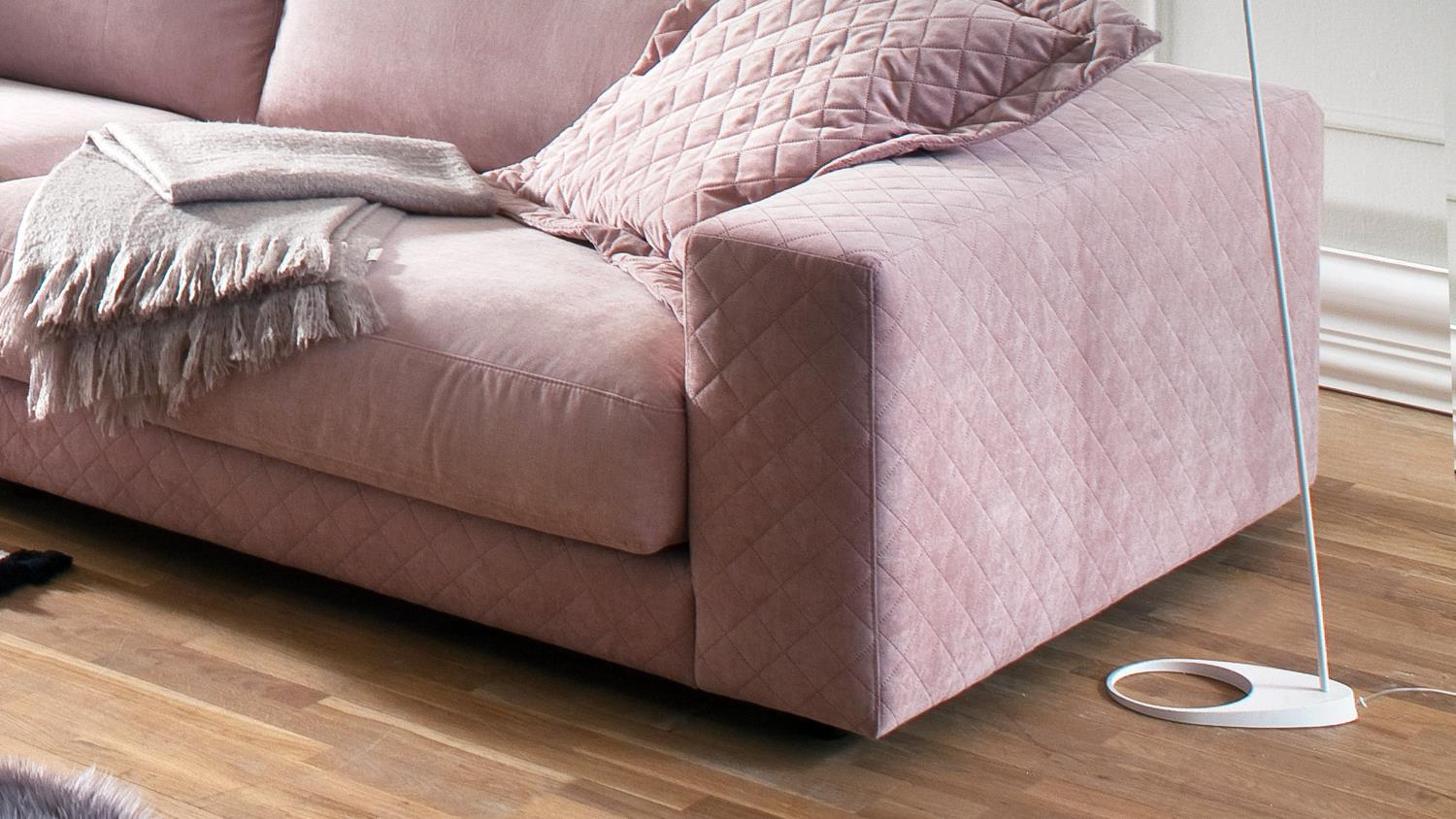 Big Sofa 290 Cm Big Sofa High Loft Megasofa Loungesofa In Stoff Rosa 290