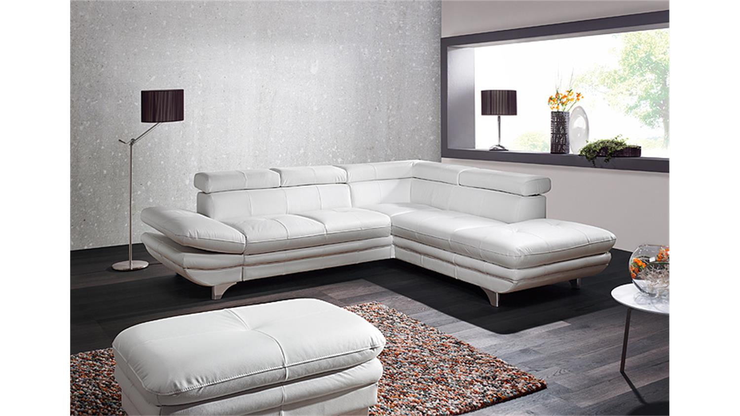 Ecksofa Bettfunktion Ecksofa Enterprise Sofa Wohnlandschaft Weiß Bettfunktion