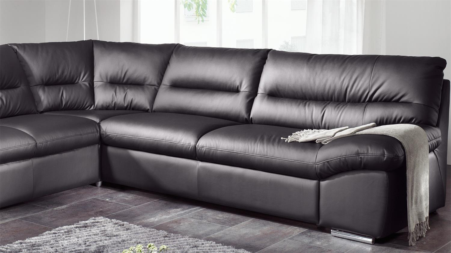 Ecksofa Bettfunktion Ecksofa William Polsterecke Sofa Schwarz Mit Bettfunktion