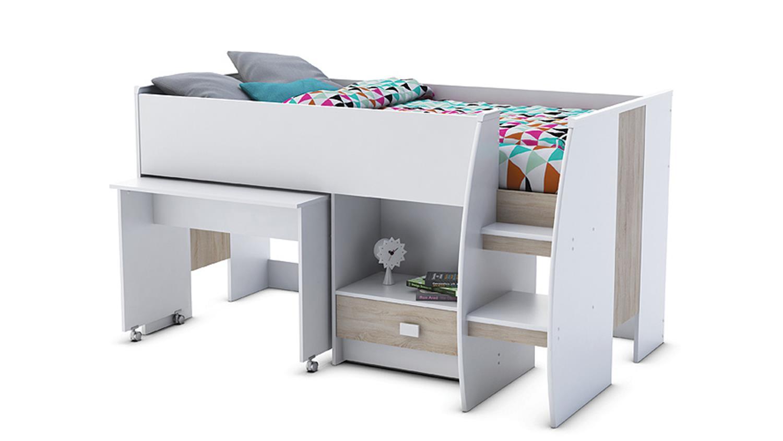 Etagenbett Eiche Sonoma : Kinder hochbett multifunktionsbett unit etagenbett kinderbett bett