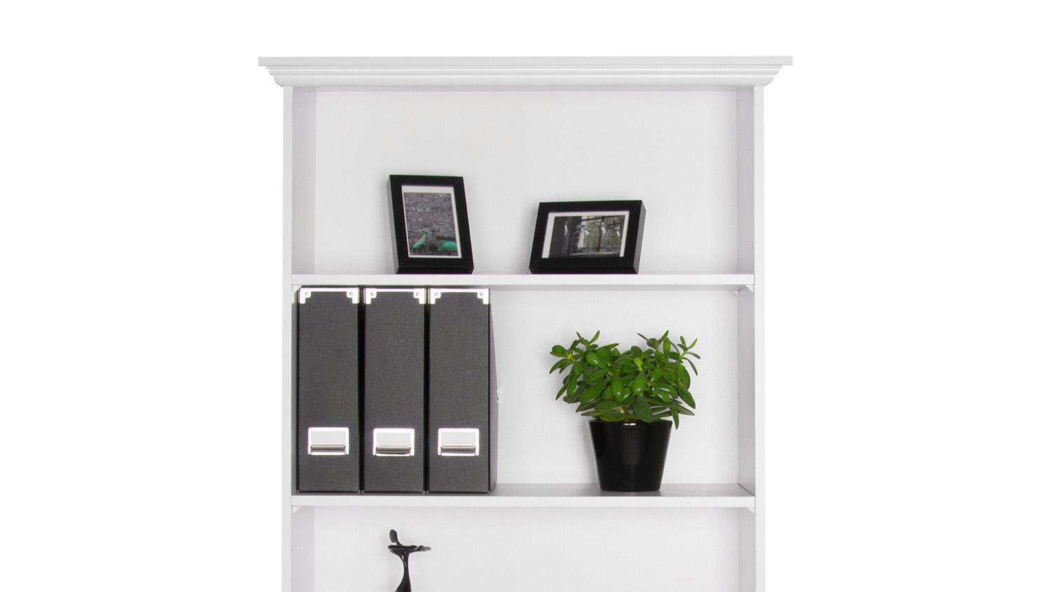Regal Landhausstil Weiß Regal Landwood Bücherregal In Weiß Mit 5 Fächern 80 Cm