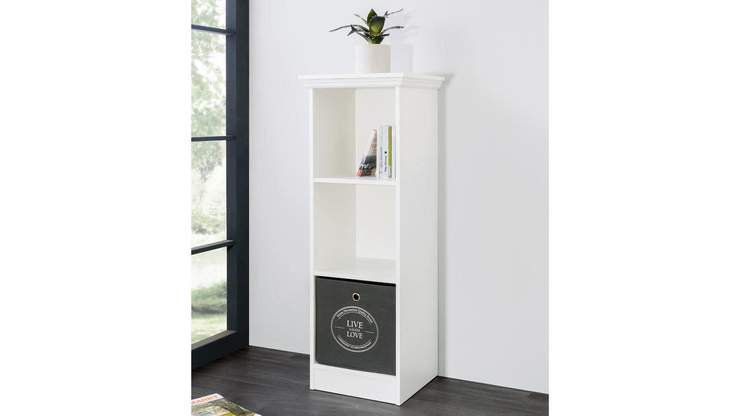 Bücherregal Landhausstil Weiß Regal Landwood Bücherregal In Weiß Mit 3 Fächern 42 Cm