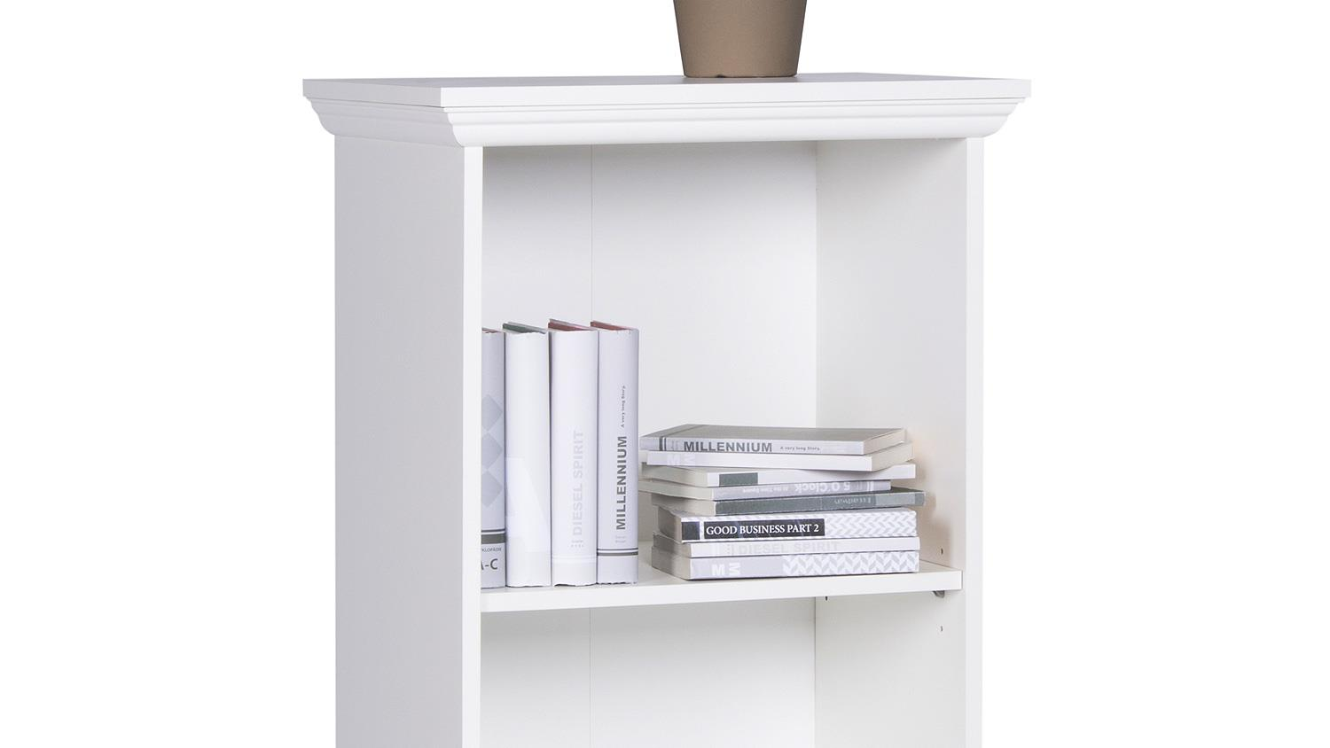 Regal Landhausstil Regal Landwood Bücherregal In Weiß Mit 3 Fächern 42 Cm Landhausstil