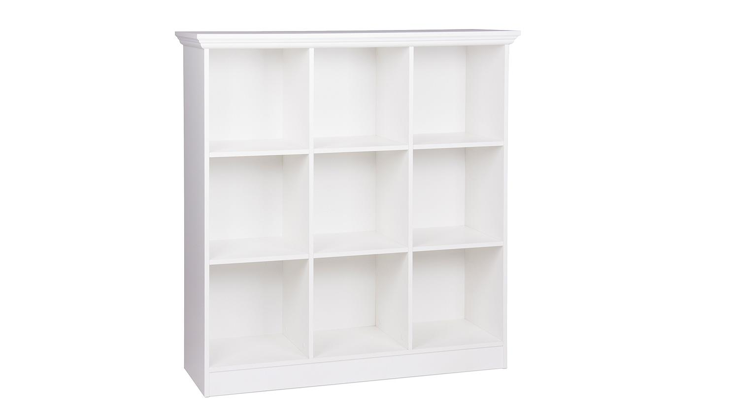 Bücherregal Landhausstil Weiß Regal Landwood Bücherregal In Weiß Mit 9 Fächern 110 Cm