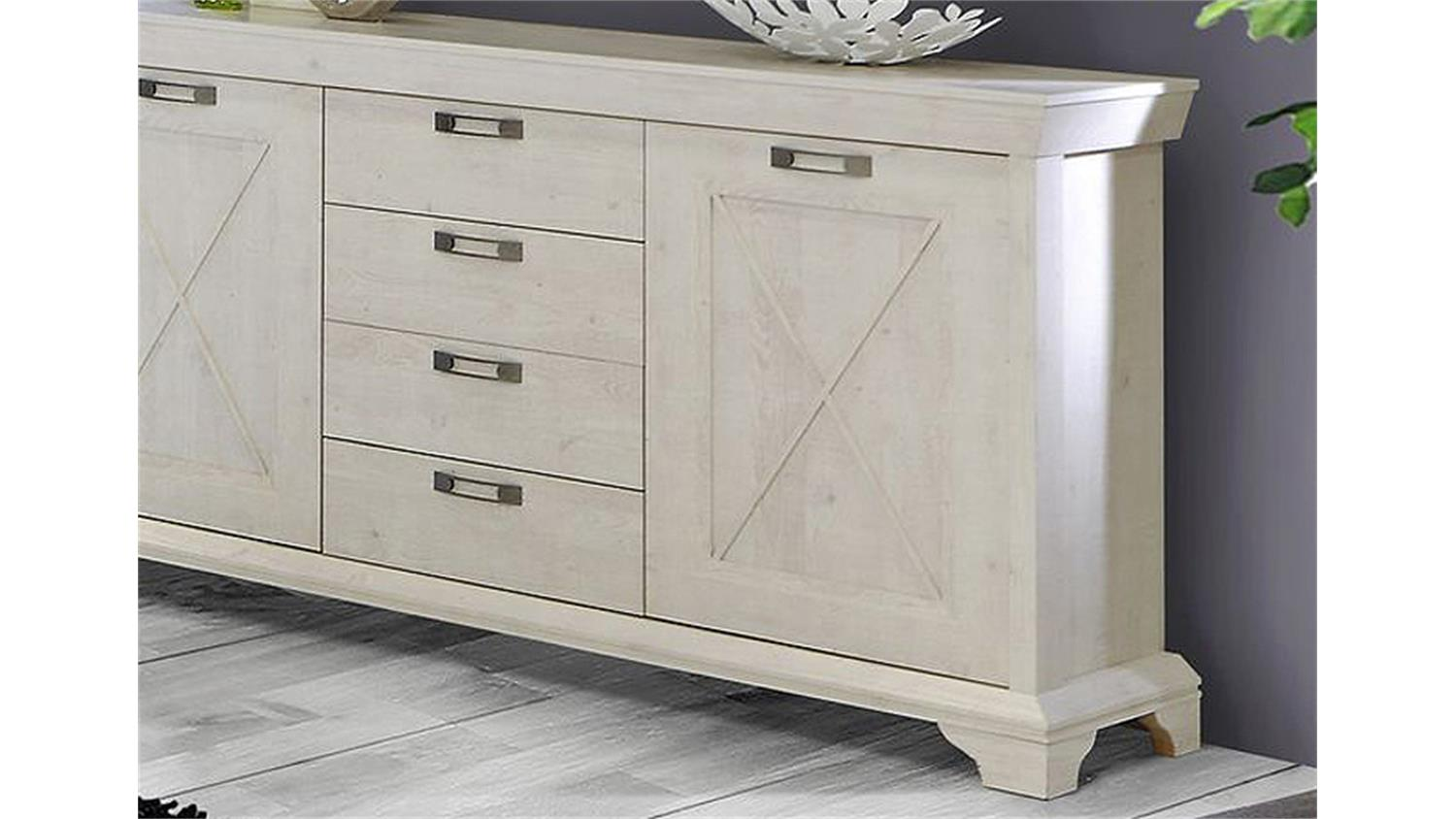 Chalet Moebel Cubico Highboard Pinie In Pinie Weiss Nachbildung With Highboard