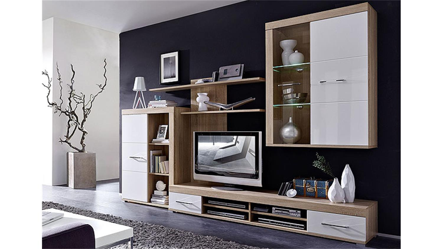 bondomus wohnwand torino jeanne and jerome. Black Bedroom Furniture Sets. Home Design Ideas