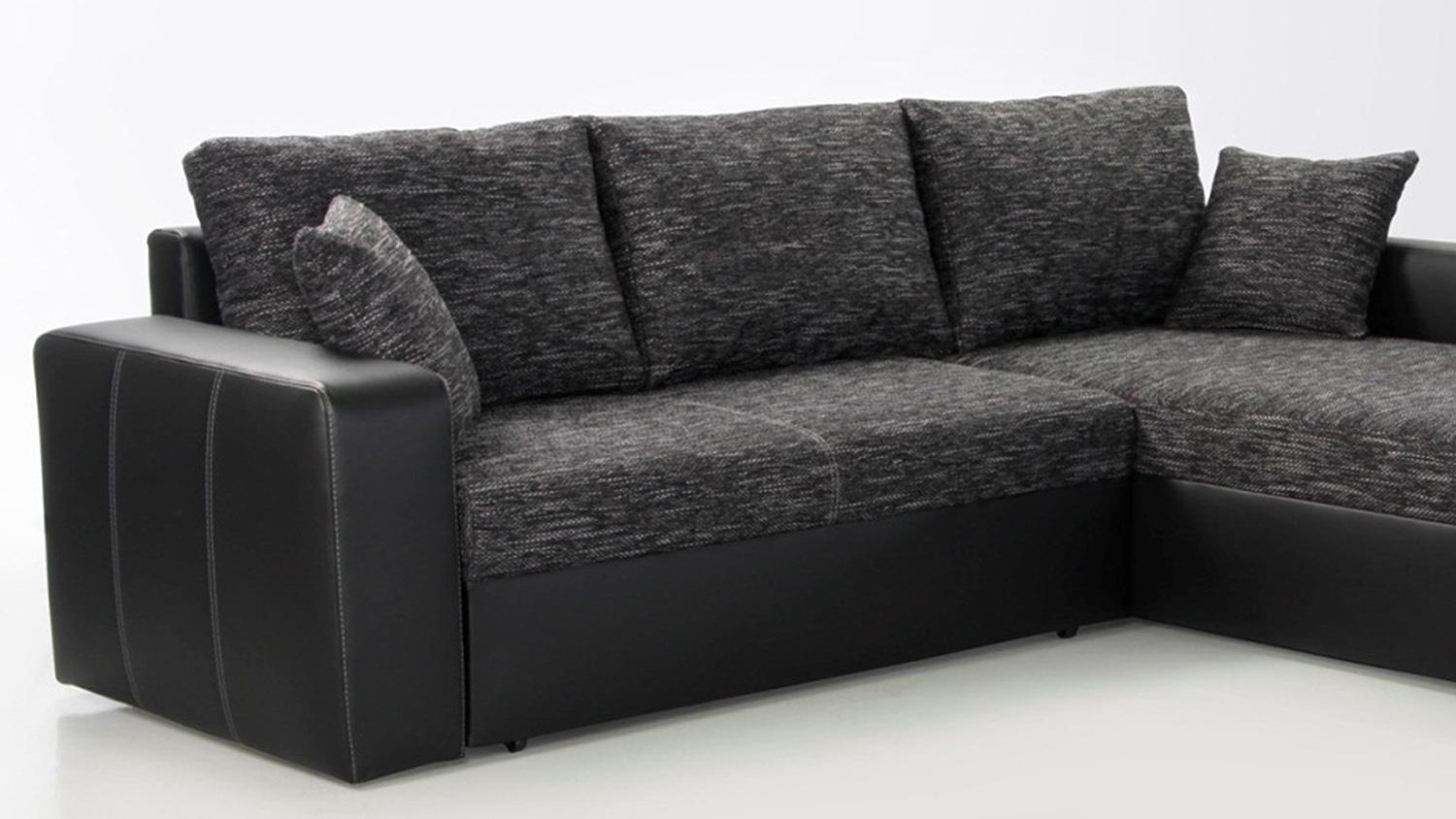 Ecksofa 3 X 2 Ecksofa Viper Sofa In Schwarz Anthrazit Mit Bettfunktion