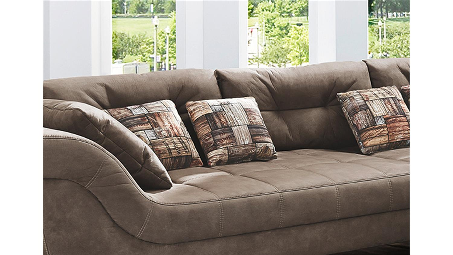 Eck Sofa Wohnlandschaft San Francisco Sofa Ecksofa In Antikbraun