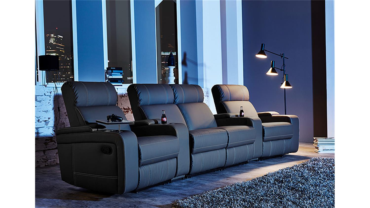Cinema Sessel Hollywood Kinosofa Cinema Sessel Hollywood 4er Kinosessel Schwarz