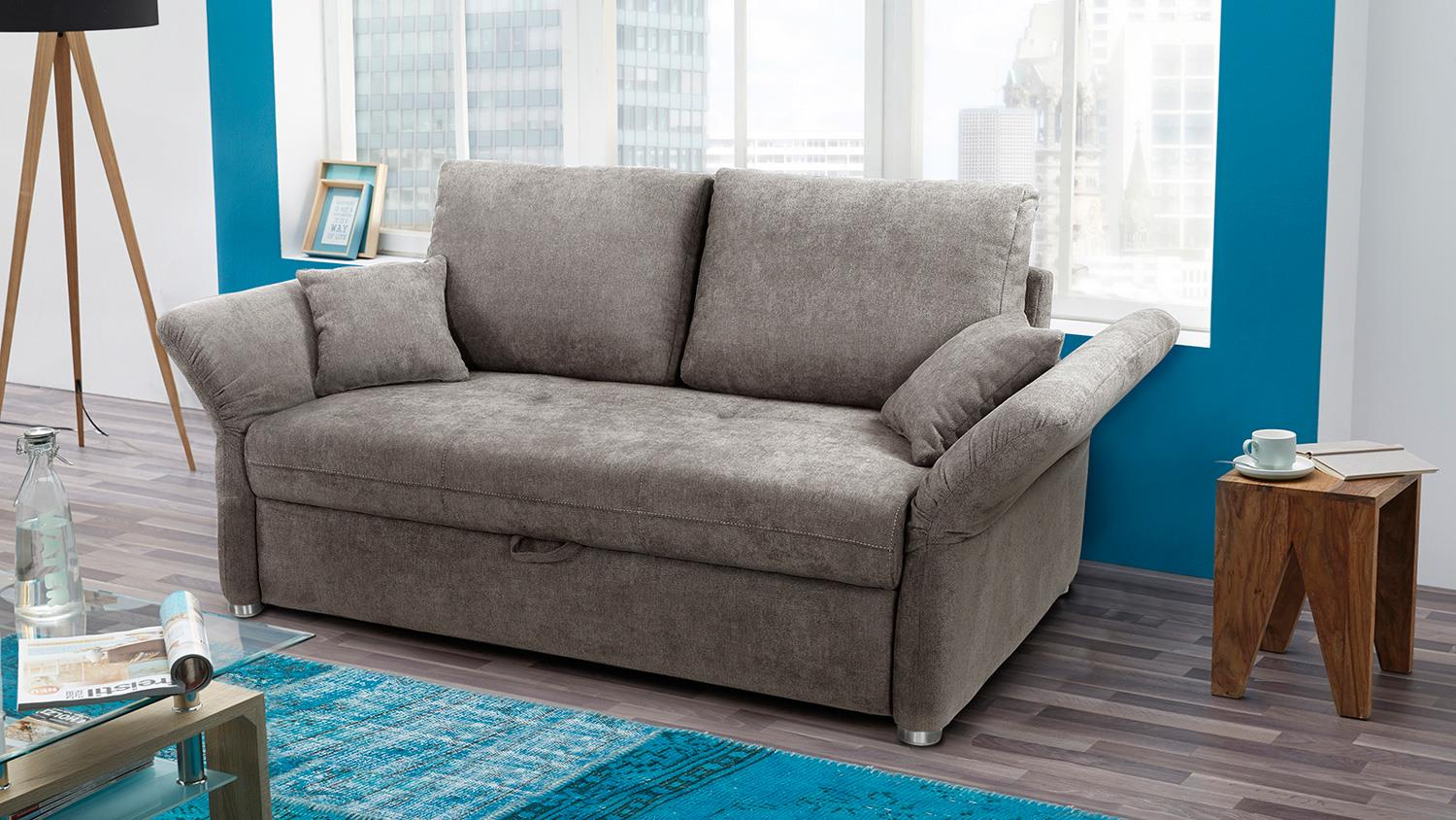 Freistil Rolf Benz Sessel Funktionssofa Luca Sofa In Greige Mit Bettfunktion 140 Cm