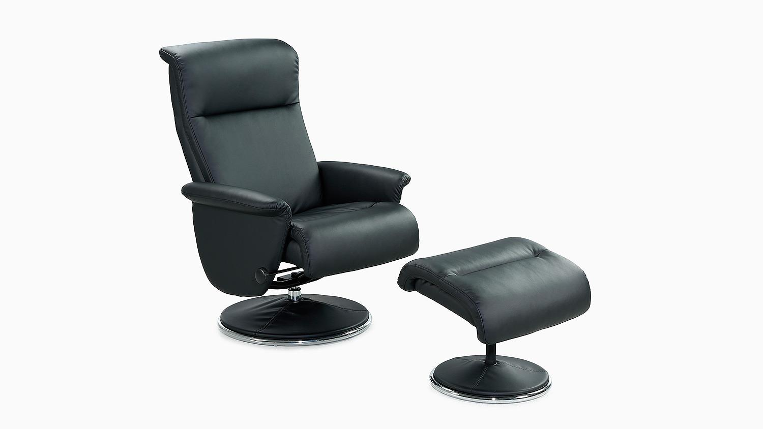 Relaxsessel Ricarda Relax Chair In Schwarz Inkl Hocker