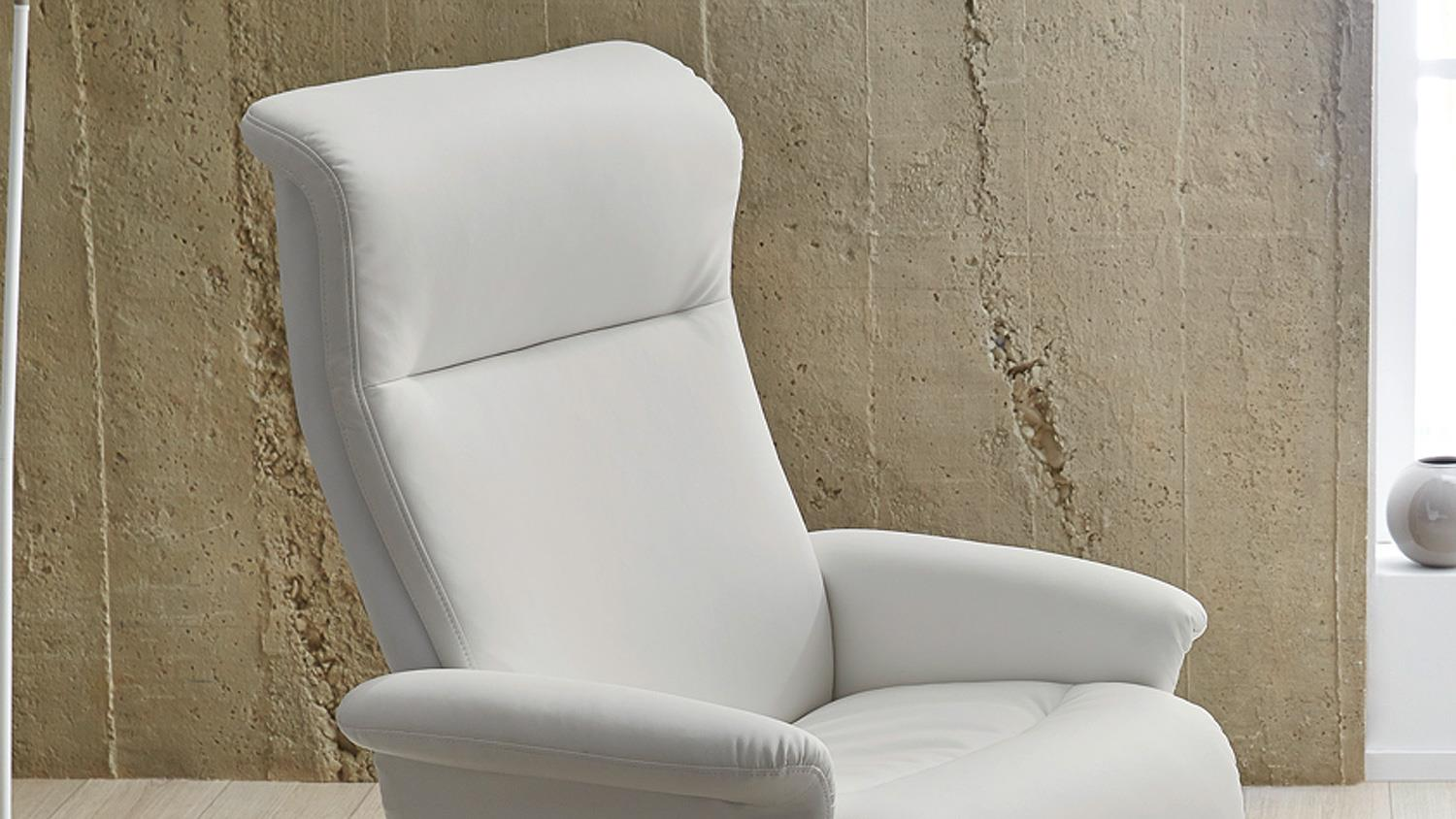 Relaxsessel Weiß Relaxsessel Ricarda Relax Chair In Weiß Inkl Hocker