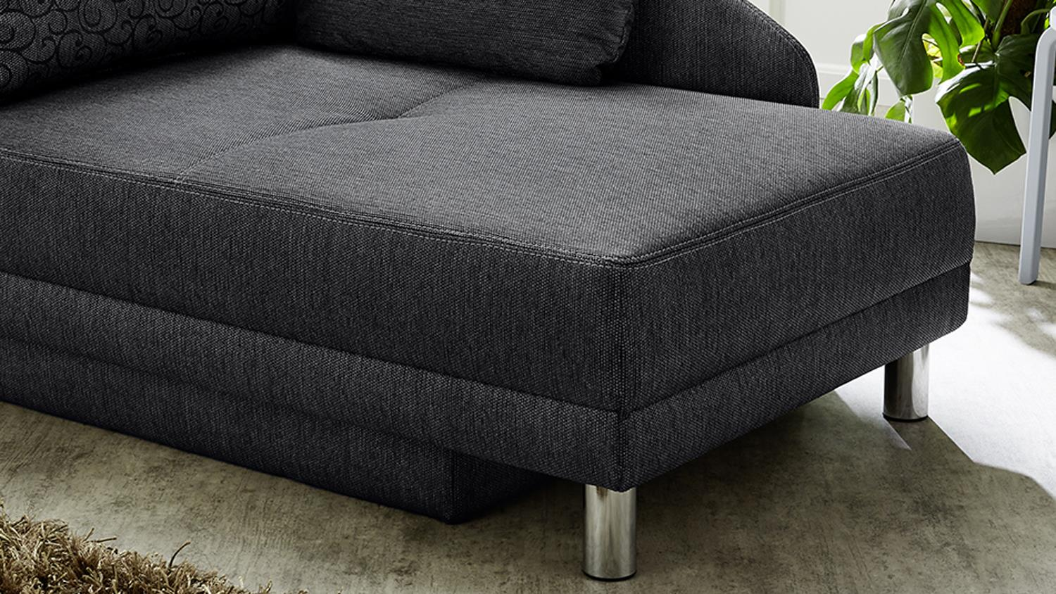 Sessel Roy Recamiere Roy Sofa Funktionssofa Anthrazit Schlaffunktion