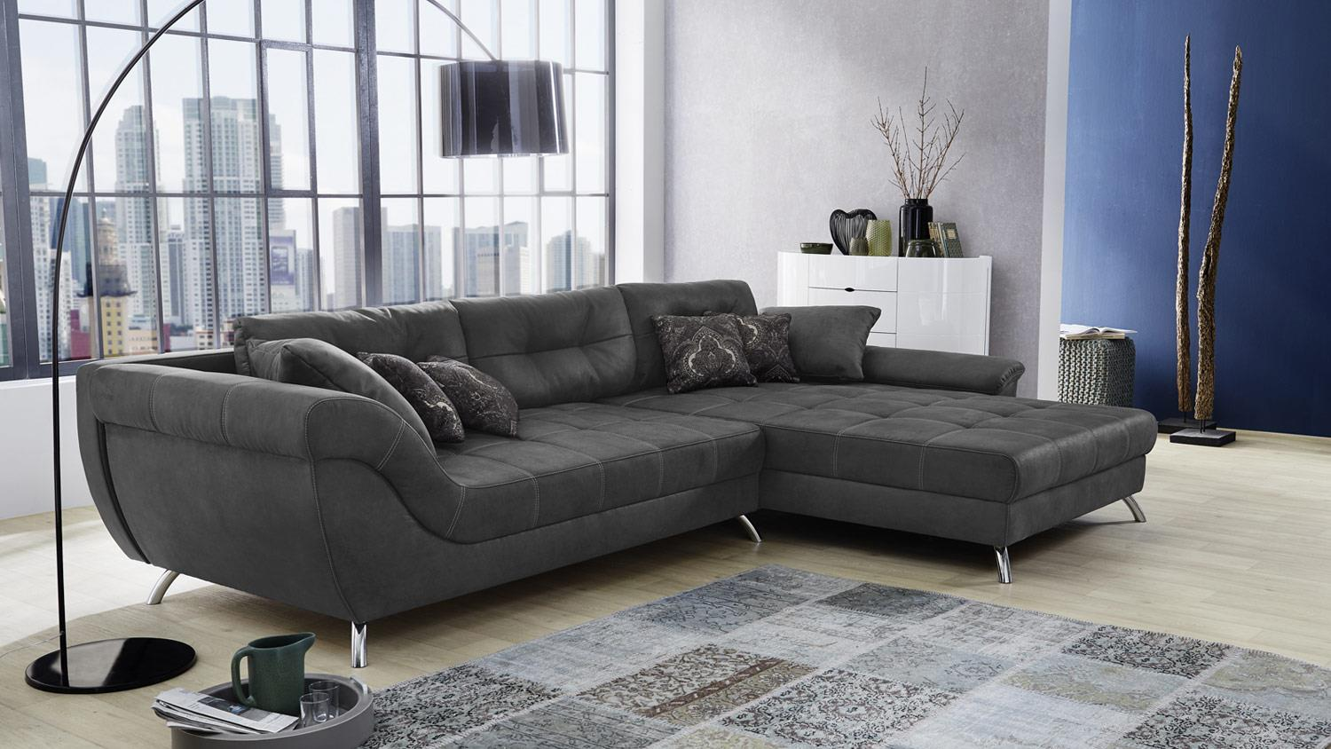 Badmöbel Antik Look Wohnlandschaft San Francisco Sofa Ecksofa Polstersofa In Antik Grau