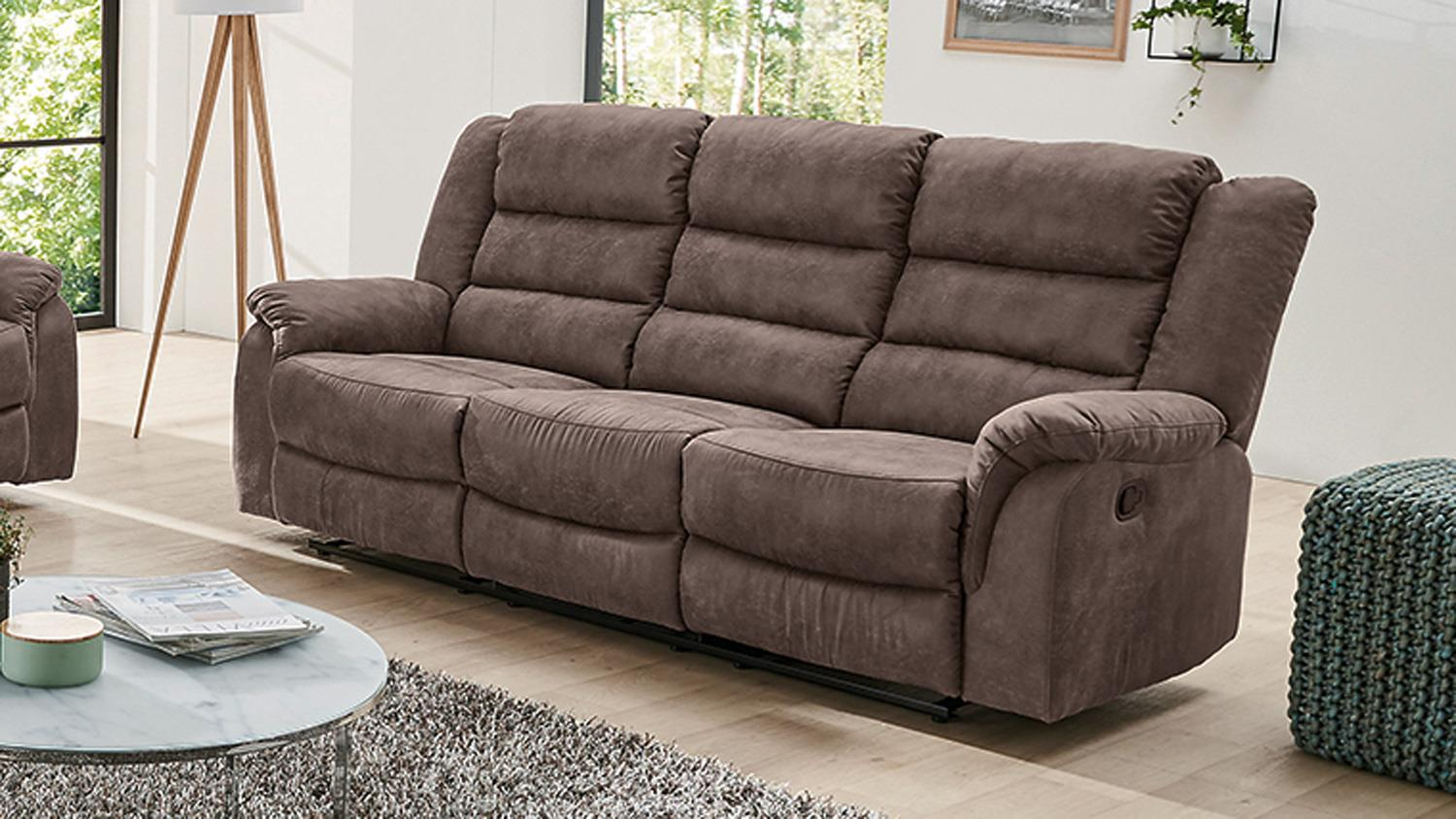 Sofa 3 Sitzer Mit Sessel Sofa Cleveland Sessel Relaxsessel 3 Sitzer Mit Funktion In