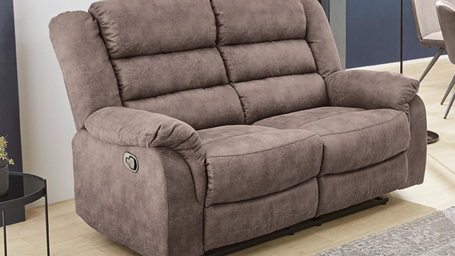 Sessel Grau Braun Sofa Cleveland Sessel Relaxsessel 2 Sitzer Funktion