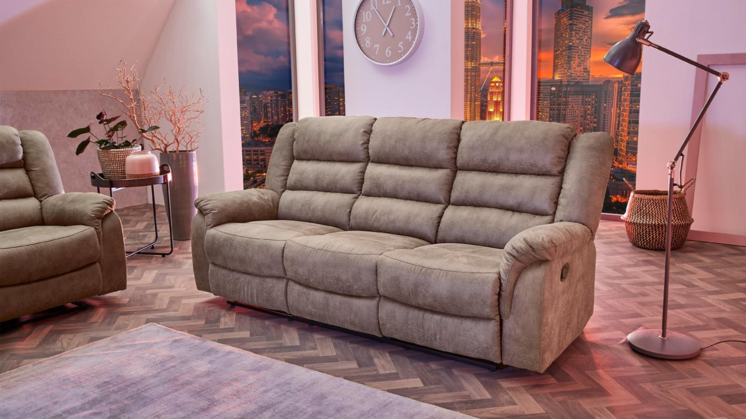 Sofa 3 Sitzer Mit Sessel Sofa Cleveland Sessel Relaxsessel 3 Sitzer Funktion Vintage