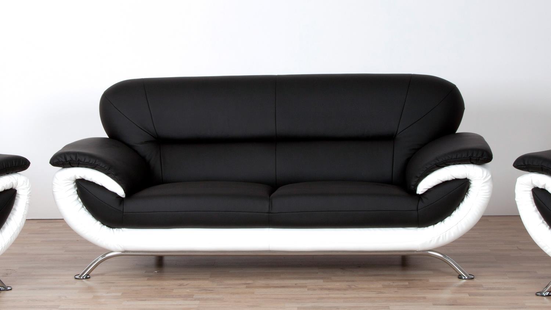 2 Sitzer Sofa Weiß Stoff 3er Couch Dreisitzer Sofa Sofanella
