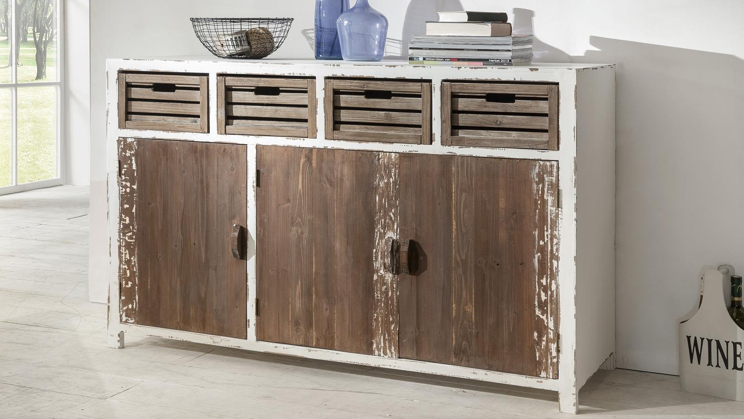 Sideboard Shabby Look Sideboard Aimann Shabby Chic Kommode In Antik Weiß 143