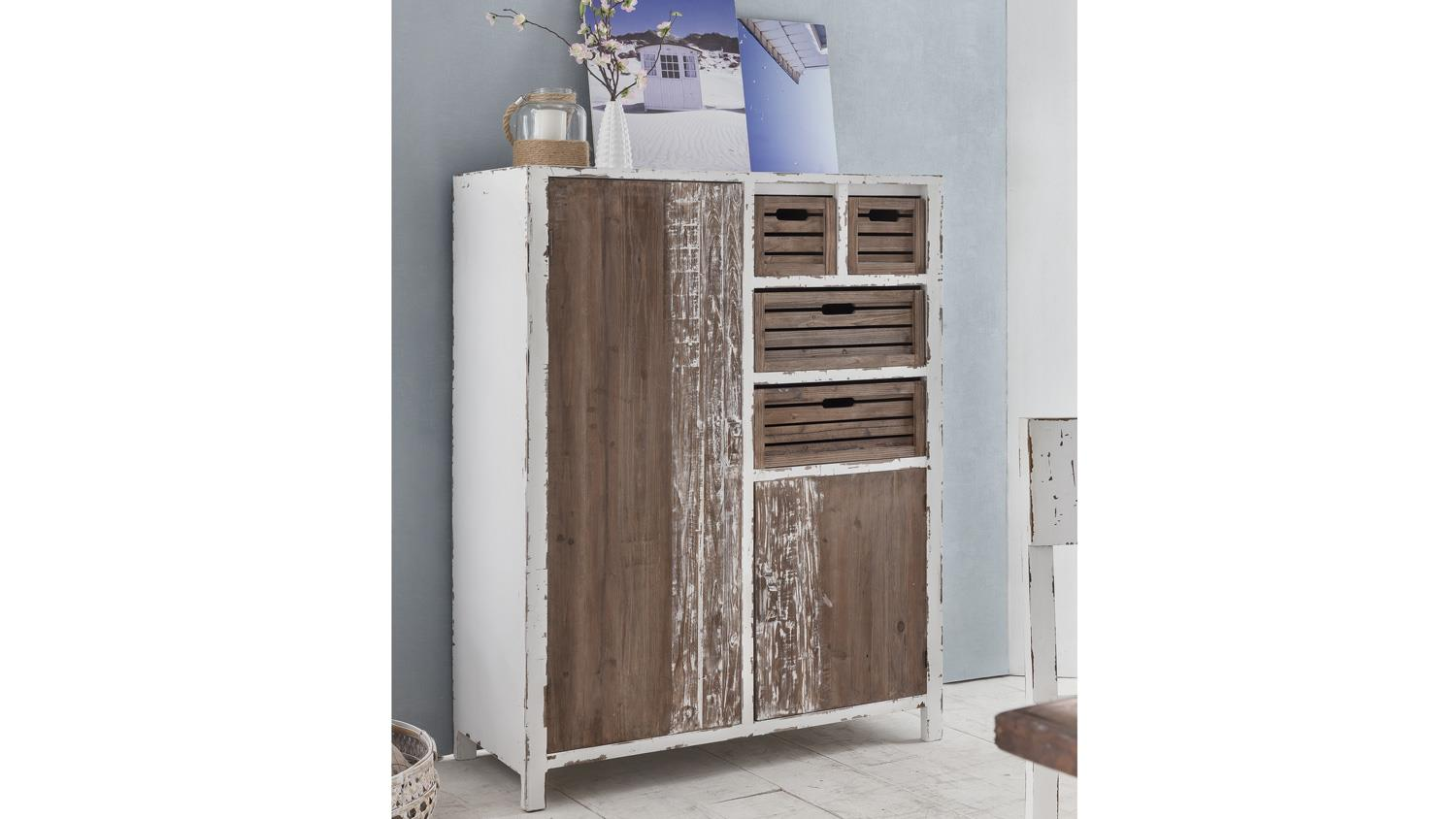 Kommode Flur Antik Highboard Kommode Aimann Shabby Chic In Antik Weiß