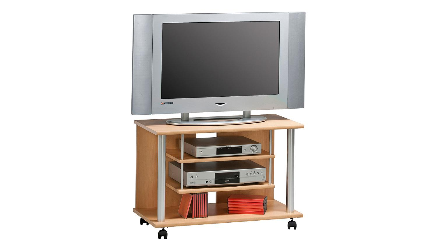 Tv Rack Mit Rollen Tv Rack Maja 1898 Tv Board In Buche Mit Rollen