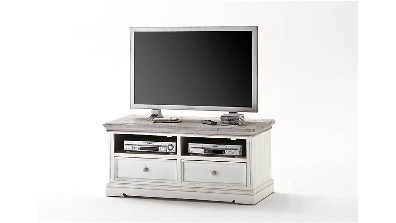 tv board 1 opus lowboard in kiefer massiv weiss vintage