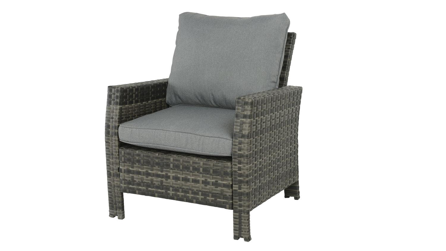 Outdoor Möbel Polyrattan Grau Sessel Madison Outdoor Lounge Chair In Polyrattan Grau Braun