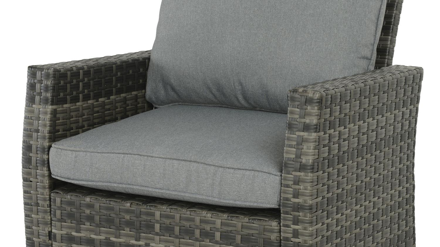 Sessel Grau Braun Sessel Madison Outdoor Lounge Chair In Polyrattan Grau Braun
